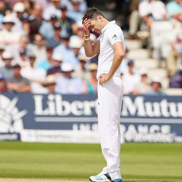 "England pace spearhead James Anderson on Tuesday faced the prospect of a ban of two to four Tests after he was charged with a level three offence for allegedly ""abusing and pushing"" India's Ravindra Jadeja during the first Test at Trent Bridge."