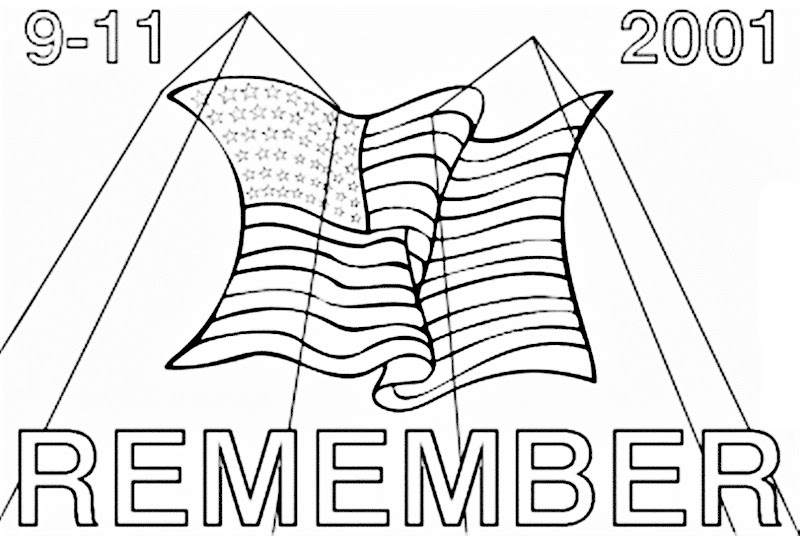Images of September 11 9/11 day coloring pages