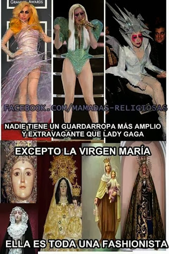 lady gaga y la virgen