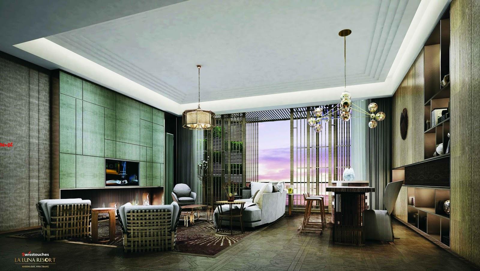Phòng khách Swisstouches La Luna