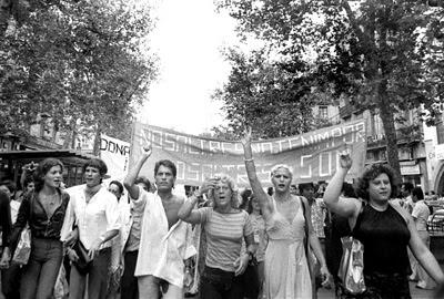 Manifestació gay, Barcelona, 1977