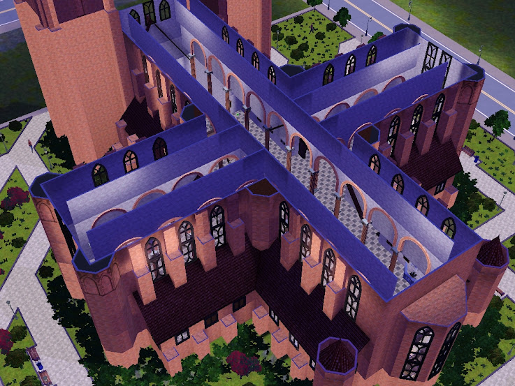 katedral sims3 gothic temple
