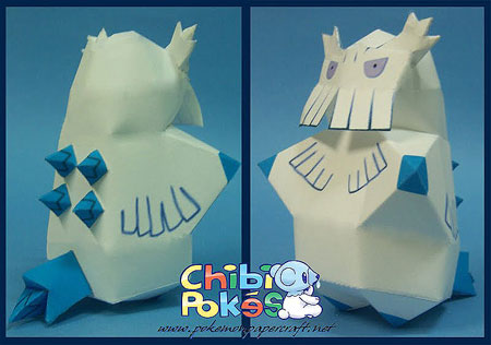 Chibi Abomasnow Papercraft