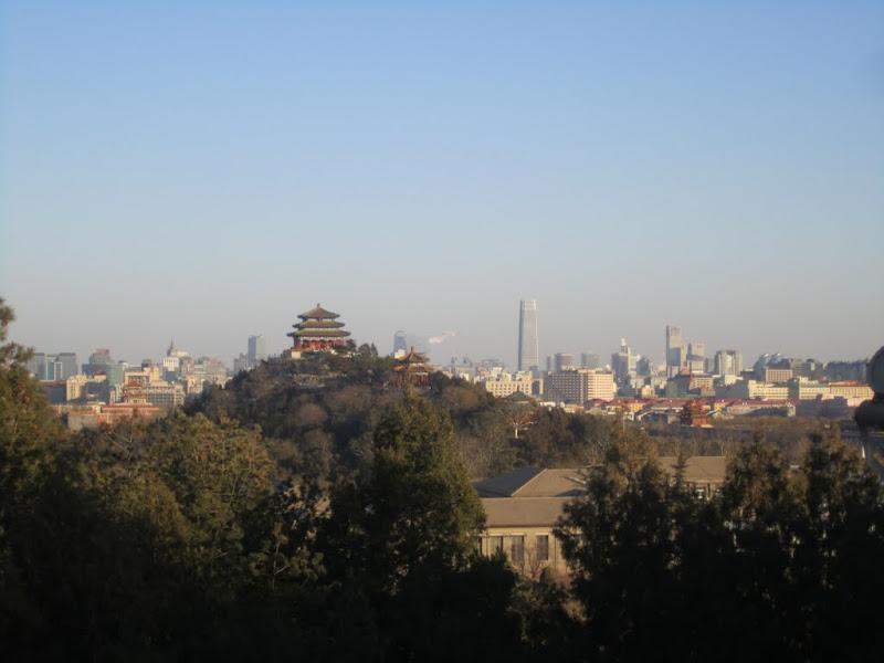 Beijing view from Beihai park hill - White Pagoda