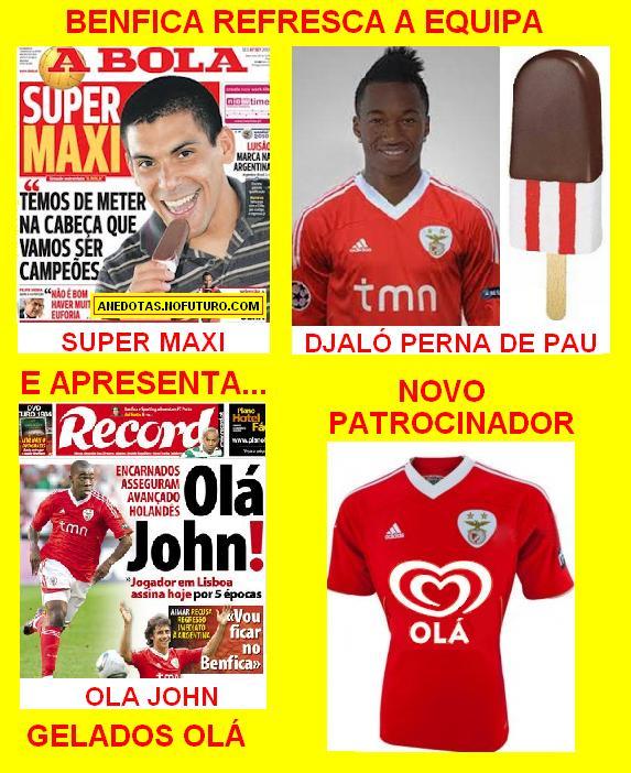Benfica patrocinado pelos Gelados Olá
