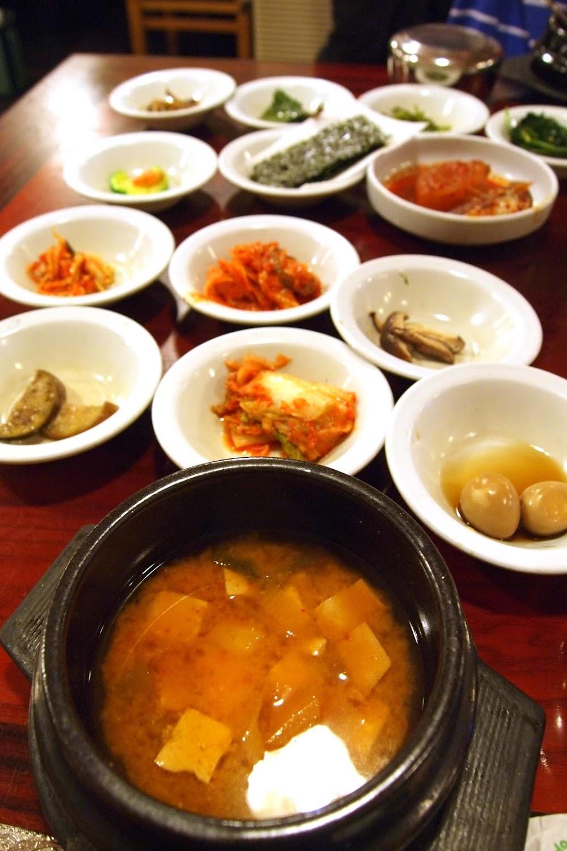 Doenjang jjigae , soybean paste soup with tofu and veggies. It likens ...