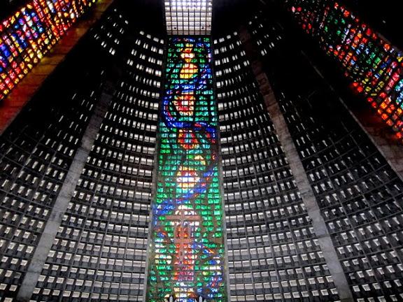 Interior of the Rio de Janeiro Cathedral in Brazil
