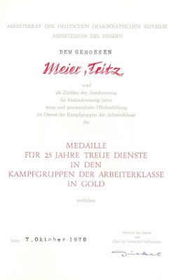 204c Medaille für treue Dienste in den Kampfgruppen für 25 Dienstjahre http://www.ddrmedailles.nl