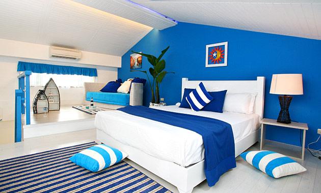 海洋調藍與白-樓中樓宜蘭民宿