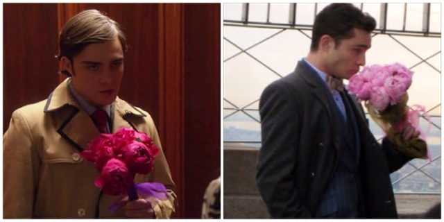Blair Waldorf and peonies. Ramo peonias en Gossip Girl.