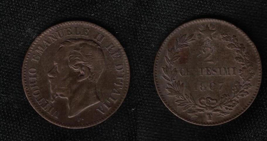 Mi colección de monedas italianas. 2%20centesimi%201867%20T