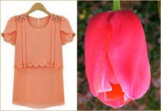 Similitud entre la flor de tulipán y manga tulipán