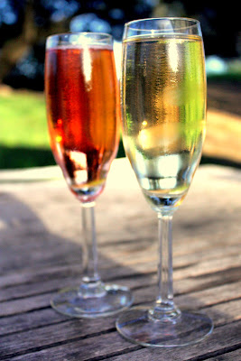 Glasses of Sparkling Wine at Domaine Chandon