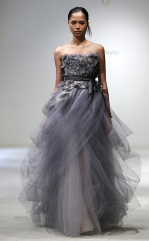 I heart wedding dress vera wang gray dress wedding for Gray dresses for a wedding