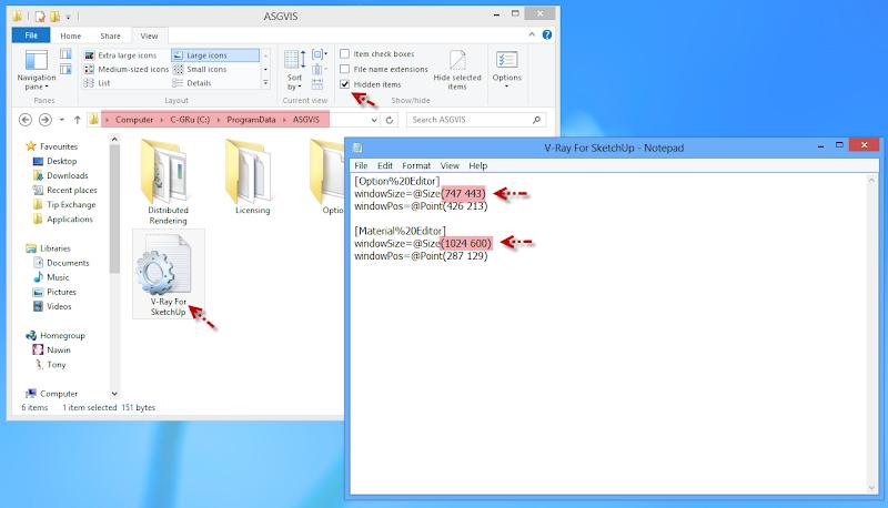 แก้ปัญหาการแสดงผลหน้าต่างกำหนดค่าของ V-Ray บน Windows 8 W8vrdi03