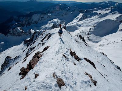 Darrer tram de cresta cap al cim