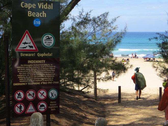 Cape Vidal Beach, iSimangaliso Wetland Park, Zuid Afrika