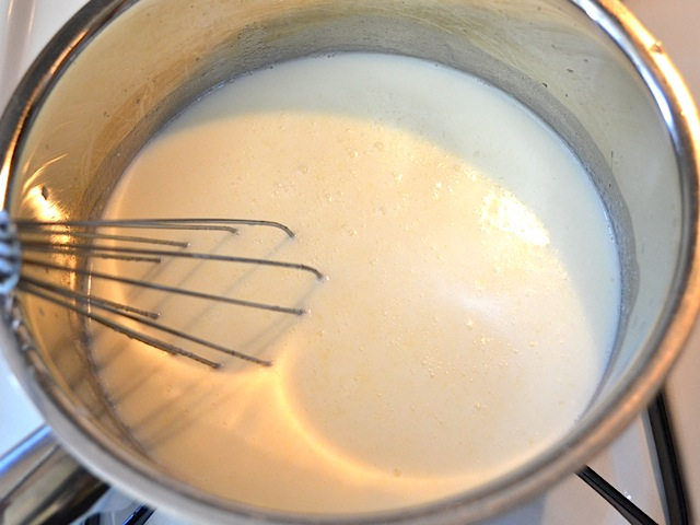 whisk in milk