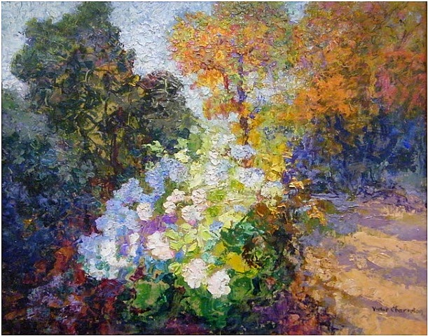 Victor Charreton - Garden Scene