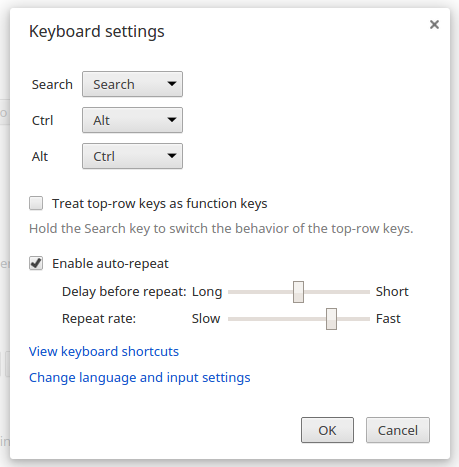 Keyboard dialog box