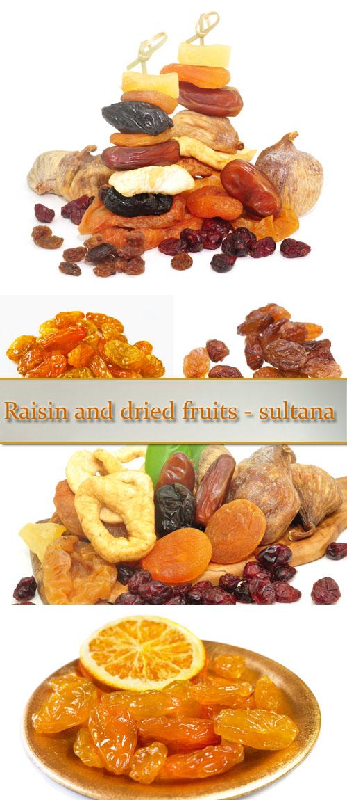Stock Photo: Raisin and dried fruits - sultana
