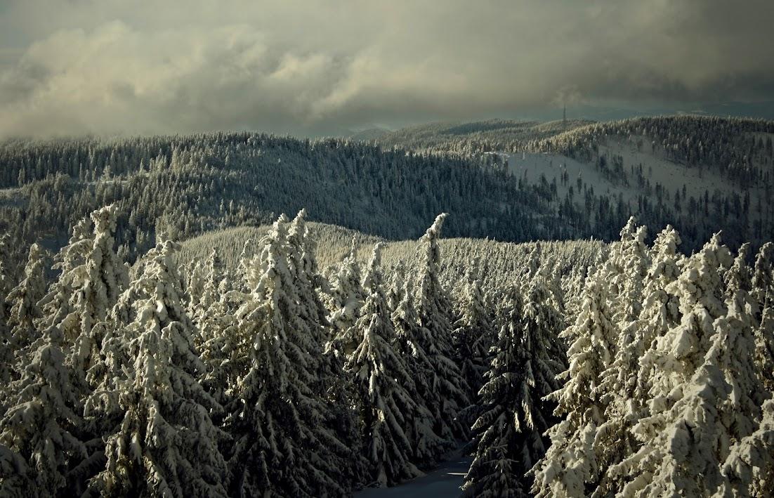 Radziejowa - widok zimą