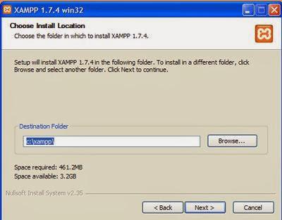 Tahap 2 : Instalasi Xampp