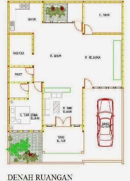 Contoh Denah Rumah Sederhana | Gallery Taman Minimalis
