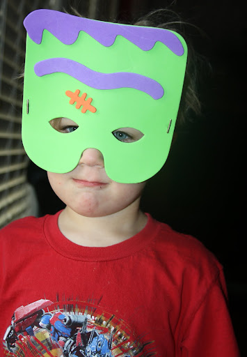 My son loves the Frankenstein mask he created.