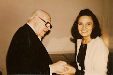 Mariangeles Sánchez Benimeli y el Maestro Andrés Segovia