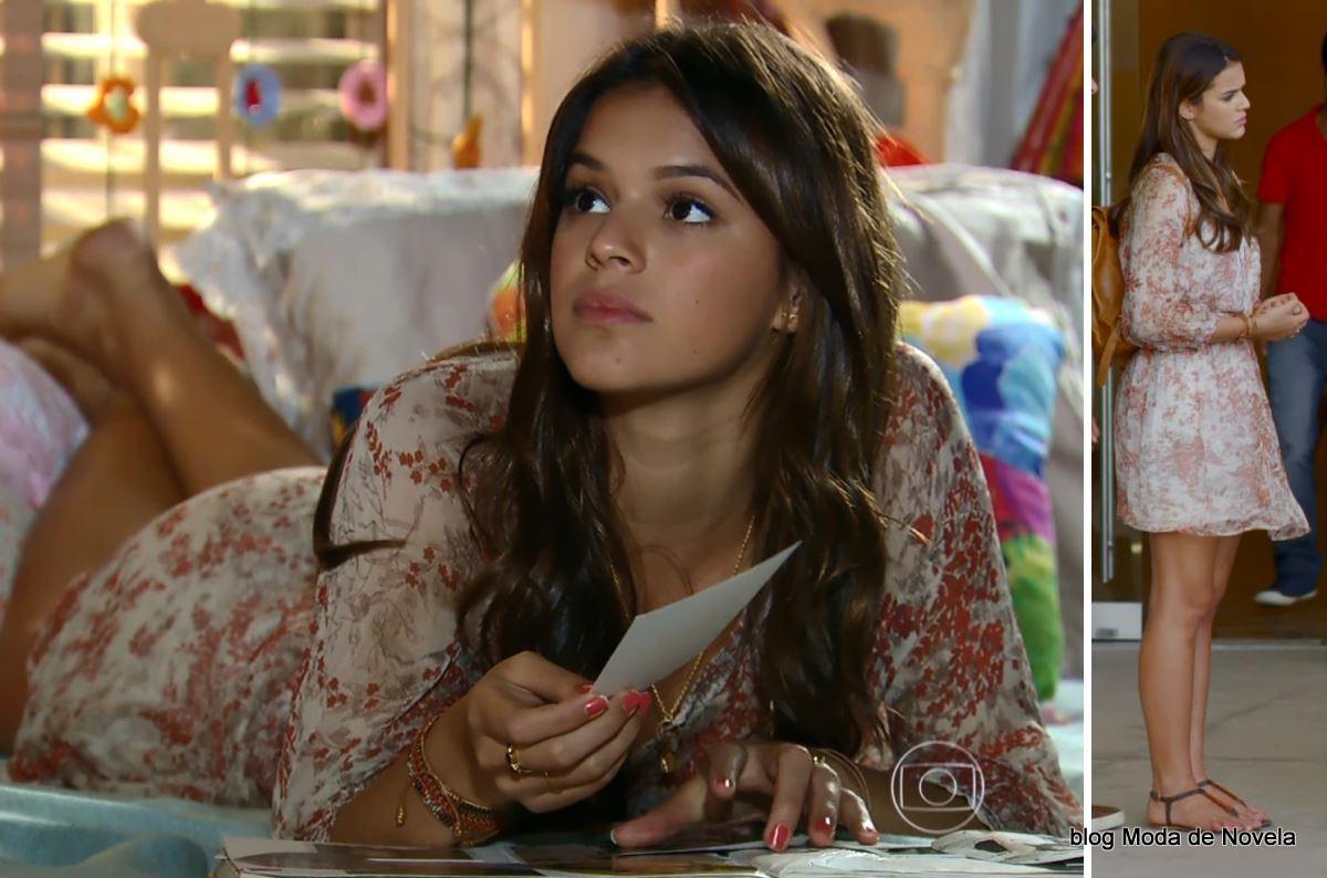 look da Luiza na novela Em Família