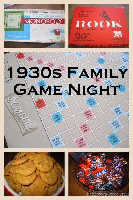 History Lesson: 1930s Game Night on Homeschool Coffee Break @ kympossibleblog.blogspot.com