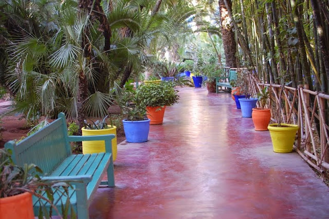entering the majorelle garden means walking into a peaceful shaded sanctuary you are immediately transported away from the loud hectic and smelly streets - Majorelle Garden
