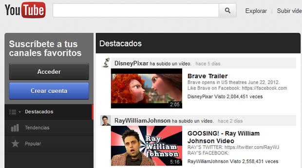 nuevo youtube