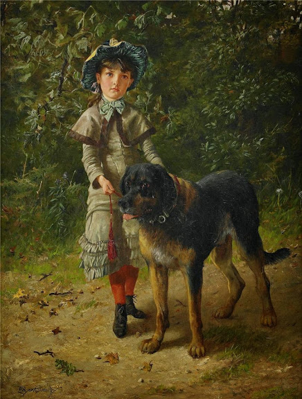 Edgar Bundy - Girl with a Dog