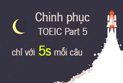 Khóa học Tuyệt chiêu chinh phục TOEIC Part 5 chỉ với 5s mỗi câu