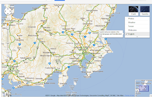 Google Maps mit Transliteration Layer - GWB