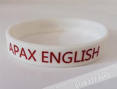 Vòng tay cao su APAX ENGLISH