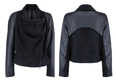 PU Panelled Black Peach Skin Coat | The Fetish for Coats