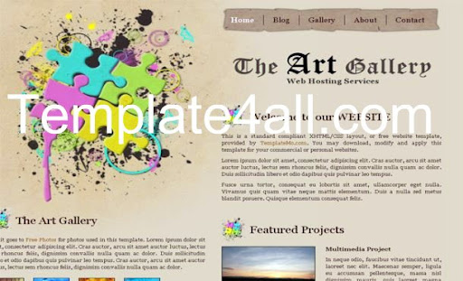 image gallery html css. Free HTML CSS Brown Art Gallery Typography Website Template, One Of The Free