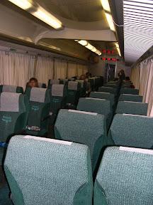 Interior del tren de San Petersburgo a Moscú