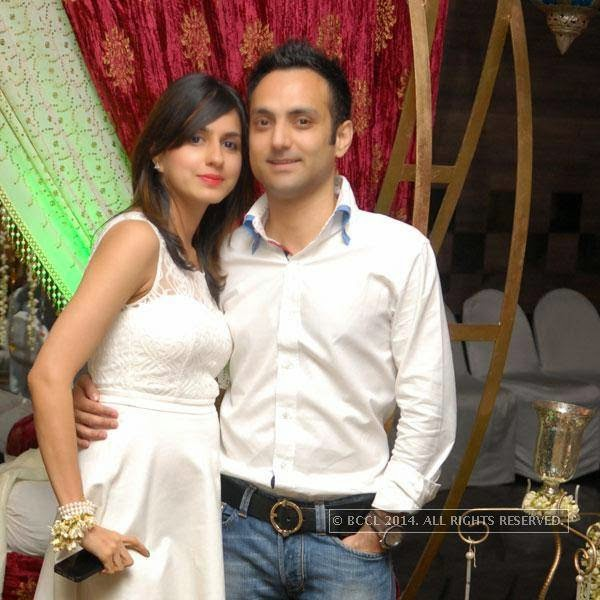 Divya and Ashish Ahuja during Shravan Kukerja's birthday party, in Nagpur.