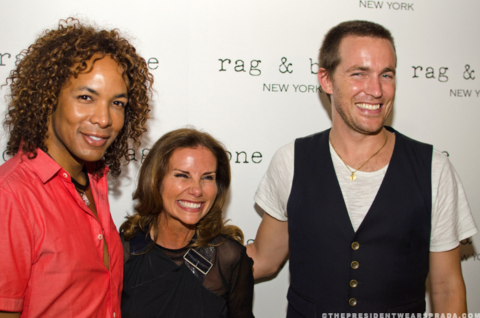 Paul Wharton, Lynda Erkiletian and David Neville of Rag & Bone