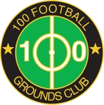 "Das Logo des ""100 Football Grounds Club"""
