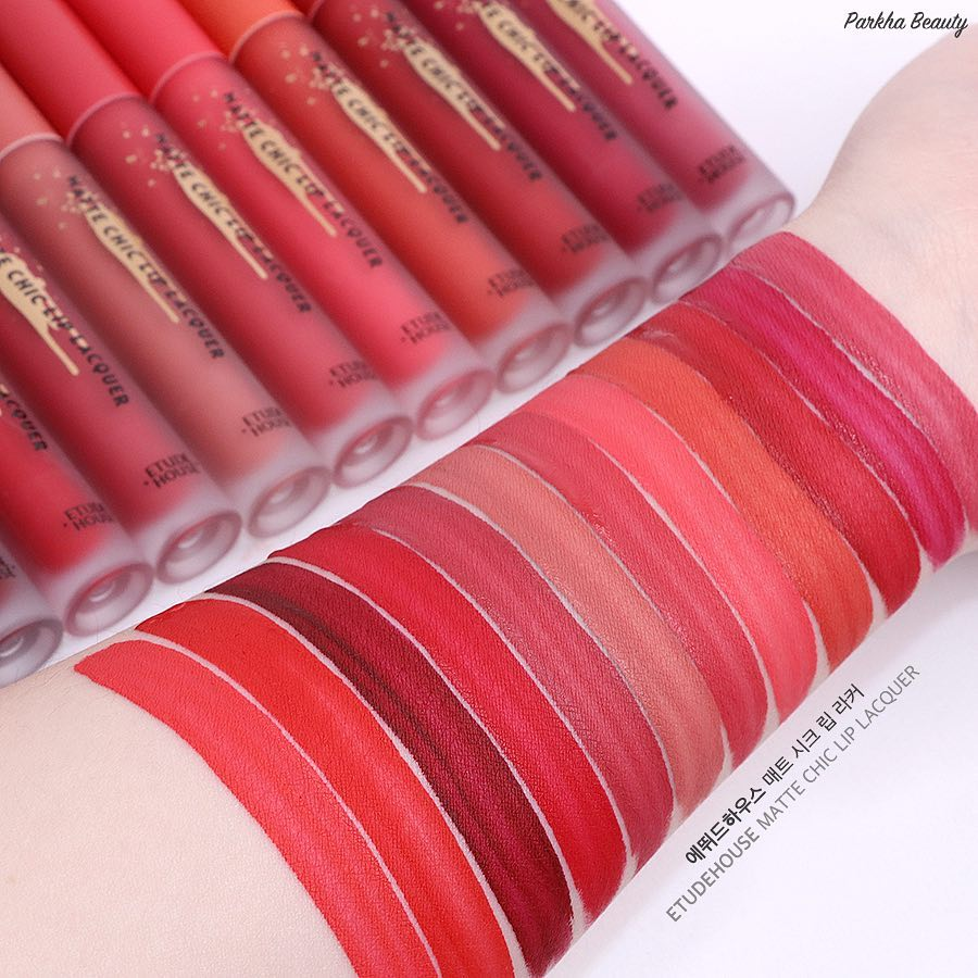 Etude House New Matte Chic Lip Lacquer
