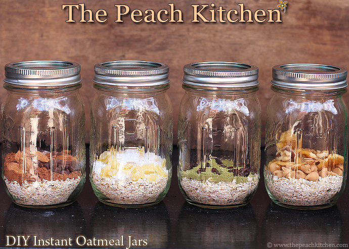 DIY Instant Oatmeal Jars | www.thepeachkitchen.com