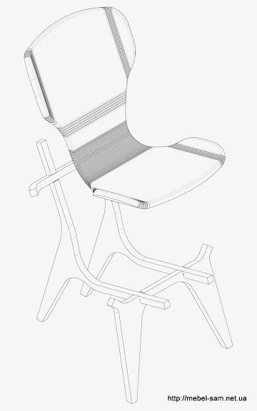 Кресло KerFchair, схема сборки