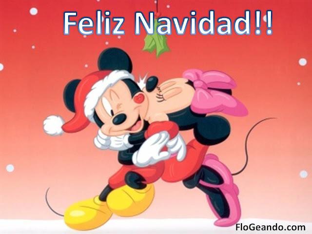 Postales de navidad Micky Mouse