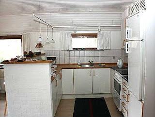 Køkken i vores sommerhus i Øster Hurup