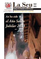 Hoja Parroquial Nº531 - Así ha sido el Año Santo Jubilar 2013. Iglesia Colegial Basílica de Santa María de Xàtiva - Sexto aniversario de la erección de la colegiata.